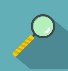magnifier icon flat style vector image