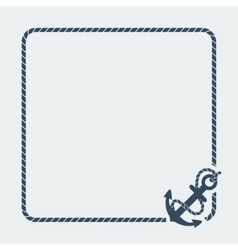 marine background with anchor vector image vector image