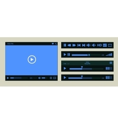 Media player template vector