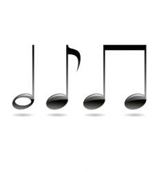 Musical signs notes vector