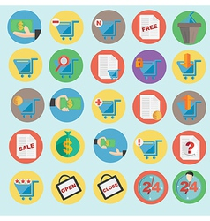 online shopping icon in flat design vector image