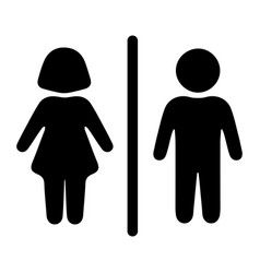 original sign icon male and female toilet vector image