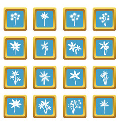 palm tree icons azure vector image vector image