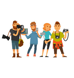 People professions photographer cameraman or vector