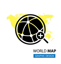 Pointer in world map vector