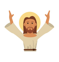 Portrait jesus christ blessed image vector