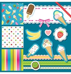Scrap icecream vector image vector image
