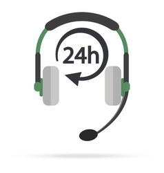 Service Call center for customers available online vector image