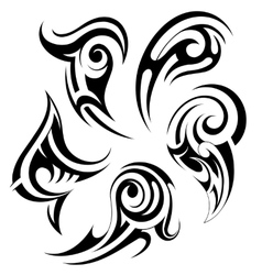 Set of tribal art tattoos vector