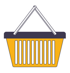 shopping basket icon in color sections silhouette vector image vector image
