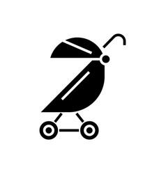 stroller buggy icon black vector image
