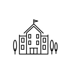 univercity building icon vector image