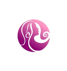 Woman beauty abstract hair logo vector