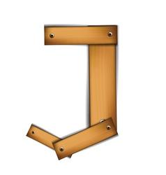 wooden type j vector image