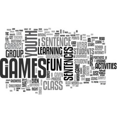 Youth group games activities text word cloud vector
