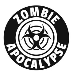 Zombie infection logo simple black style vector