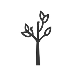Tree leaf plant nature ecology icon vector