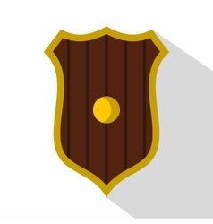Protective shield icon flat style vector
