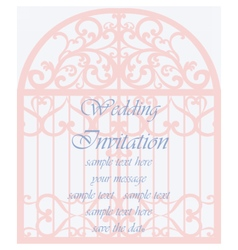 Invitation card in shape of a cage vector