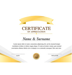 certificate template construction warranty vector image