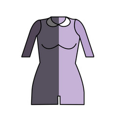 Jumpsuit short cloth style vector