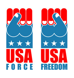 Usa force hand american freedom fist us national vector