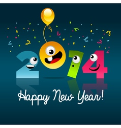 Happy new year 2014 cartoon vector