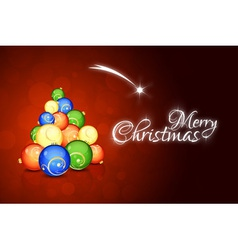 Christmas card with abstract christmas tree vector