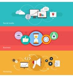 Seo marketing banner vector