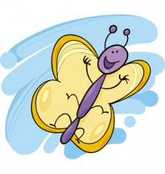 funny butterfly vector image