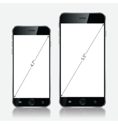 Realistic black mobile apple iphone 5s or 6 plus vector image