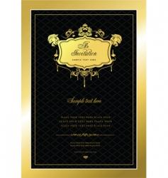 gold invitation vector image
