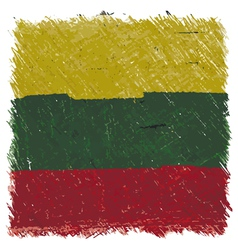 Flag of lithuania handmade square shape vector