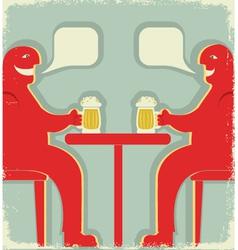 Bar poster vector