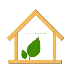 house wood vector image