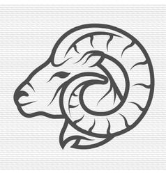 Ram symbol logo emblem vector image
