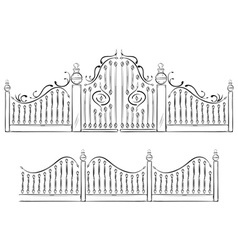 gate drawing vector image