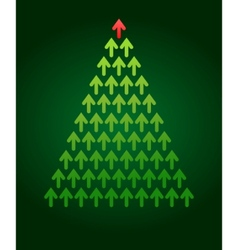 arrow christmas tree business theme vector image