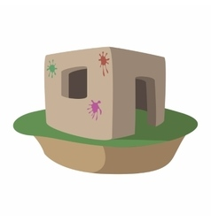 Paintball fortification cartoon icon vector