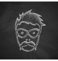 Face male icon vector