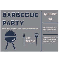 Barbecue party announcement retro style vector