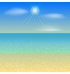 Beach Holiday Background vector image