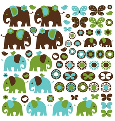 Blue elephant clipart vector