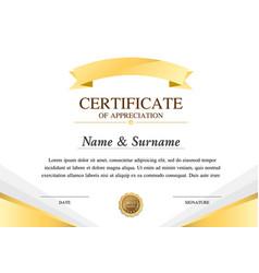 Certificate template construction warranty vector