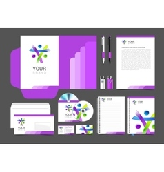 Corporate identity creative people package vector