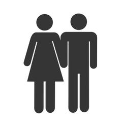 Couple relationship icon theme design vector image vector image