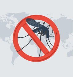 Danger from a mosquito bite vector