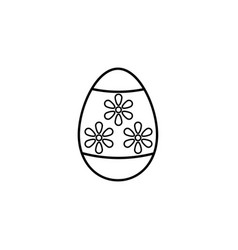 easter egg line icon religion holiday elements vector image vector image