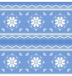 Floral lace pattern for design vector image