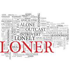 Loner word cloud concept vector